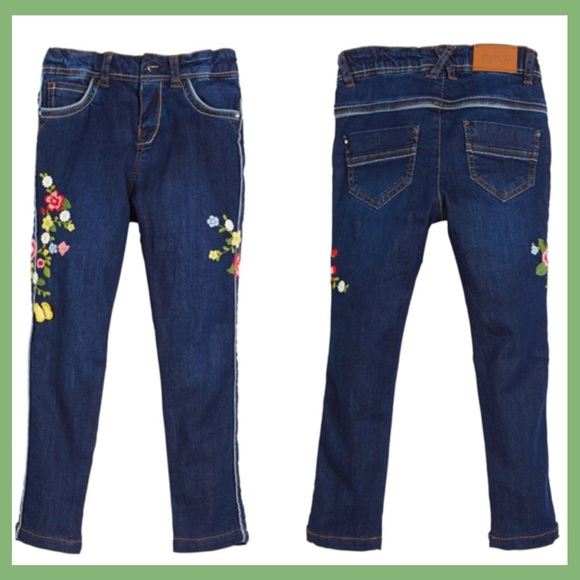 984d34fac Mayoral Bottoms | Jeans With Embroidered Flowers 18 Mos | Poshmark